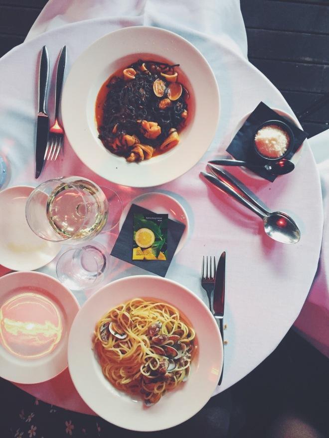 Taglielini Nero del restaurante Bimba's