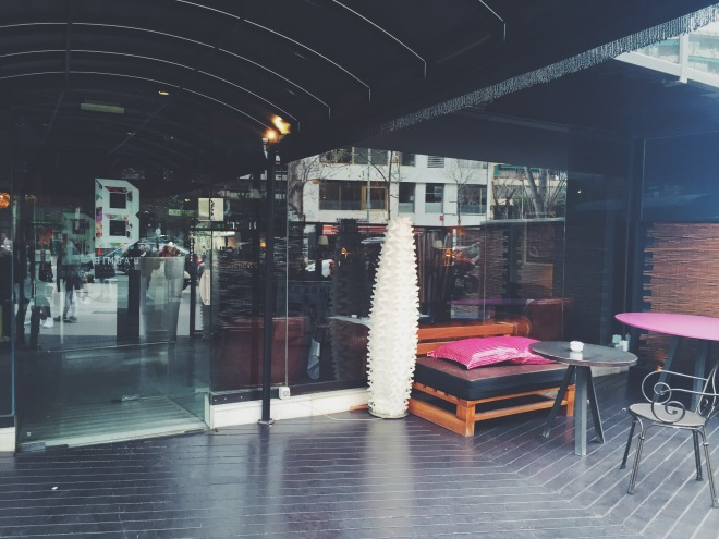 Terraza del restaurante Bimba's