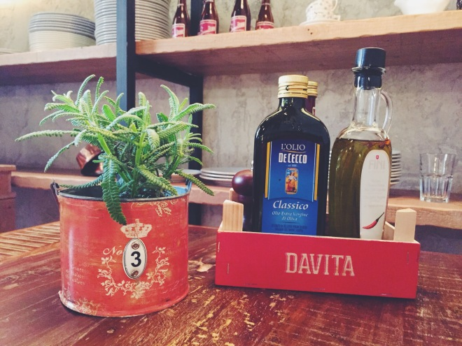 Productos de importación del restaurante Davita