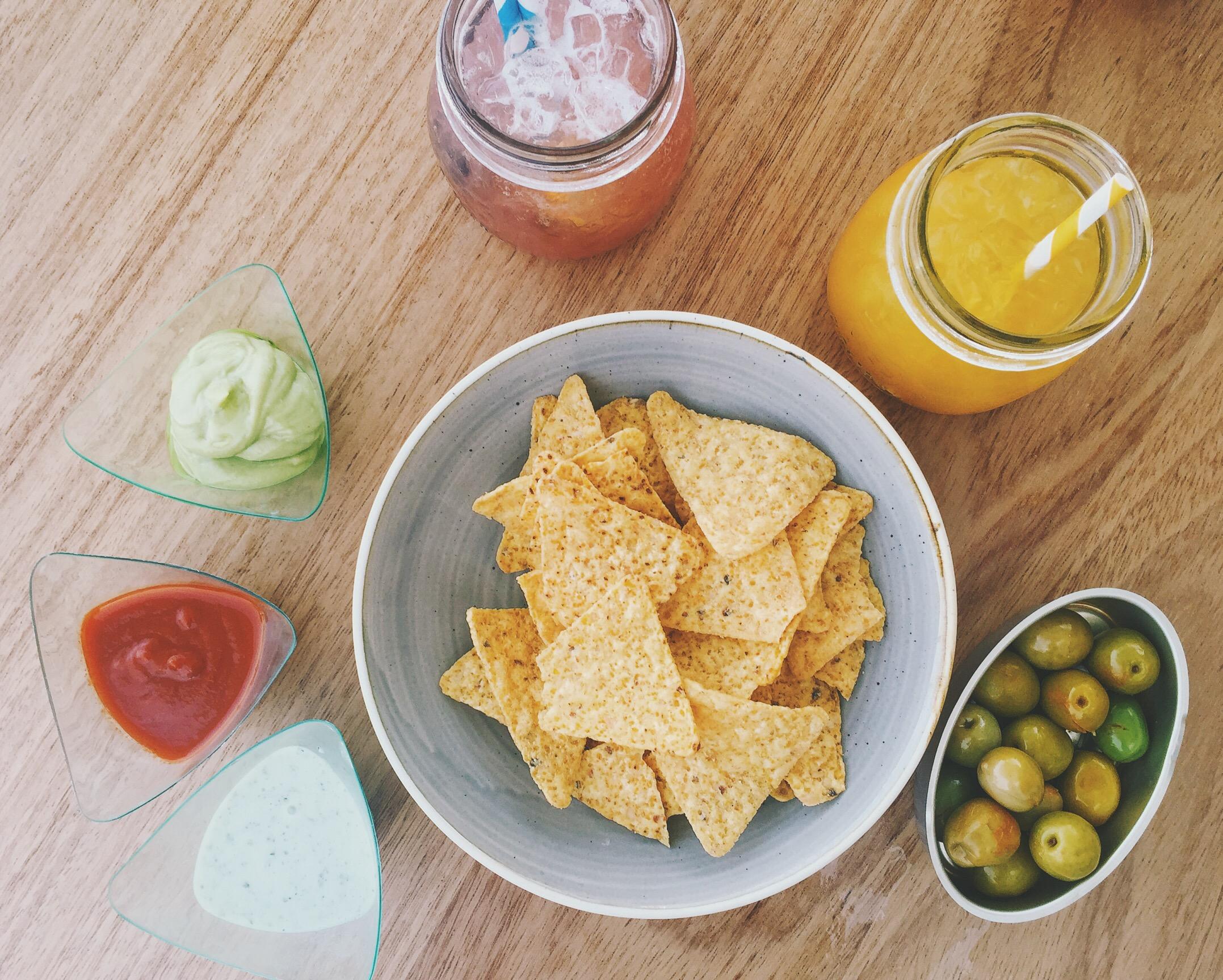 Nachos vegetales con guacamole del restaurante Informal